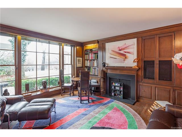 - Richly paneled Library