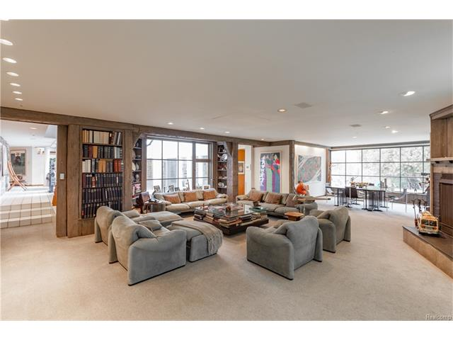 - Family Room with fireplace and Pool entrance