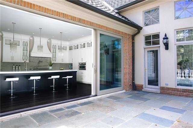 - View into Kitchen from outdoor bluestone patio