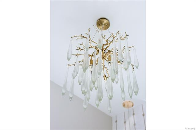 - Close up of gorgeous Power Room fixture