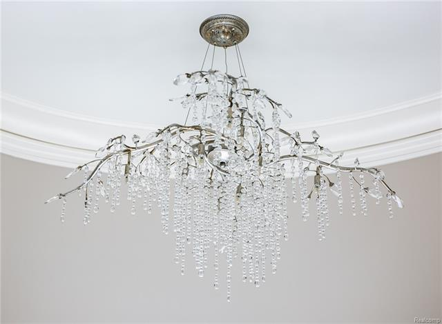 - Close up of beautiful fixture in dressing area entry