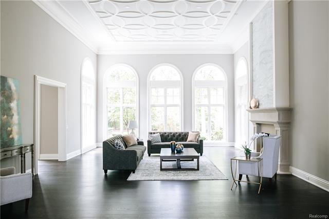 - Wide angle shot of Living Room showing ceiling detail