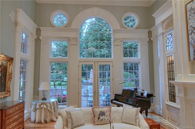 - Living room french doors to patio