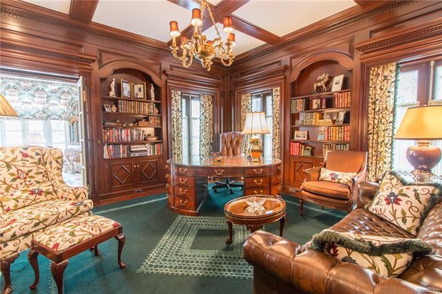 - Mahogany library