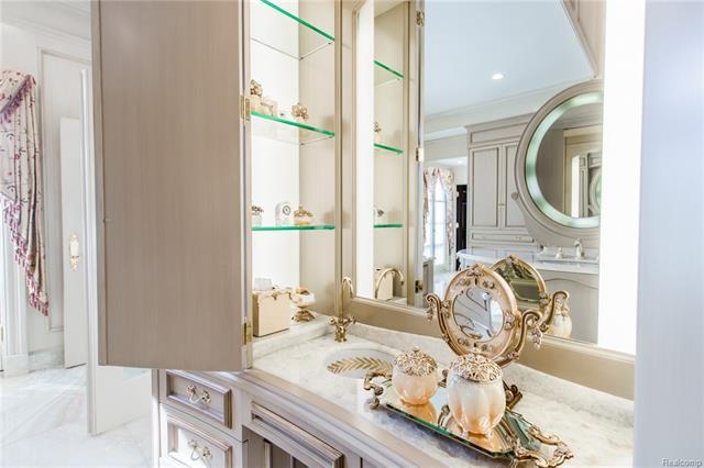 - Master bath vanity