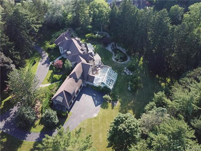 - Drone view of property