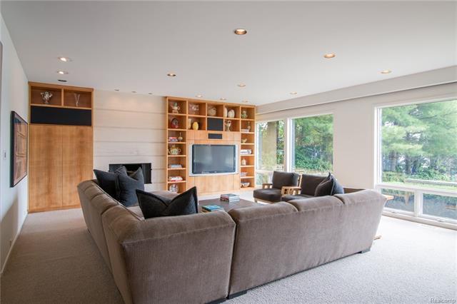 - Lower level family room