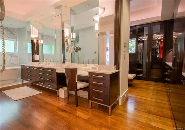 - Master bath view to her closet