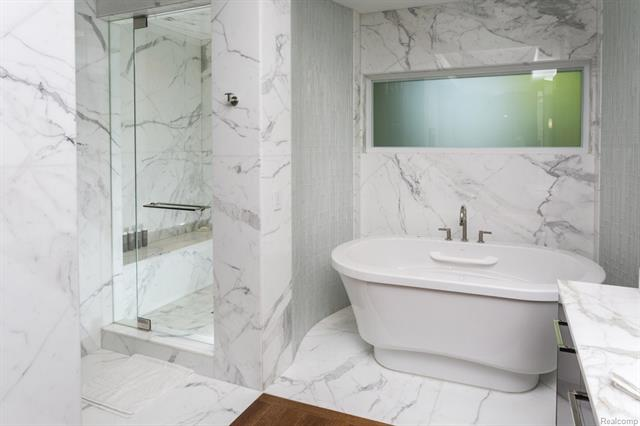 - Master bath tub & shower