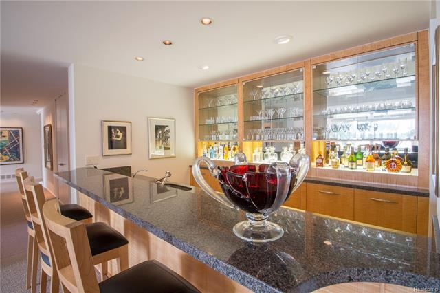 - Lower level family room bar