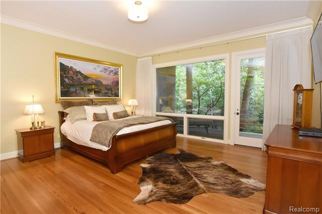 - Master suite with walkout to deck