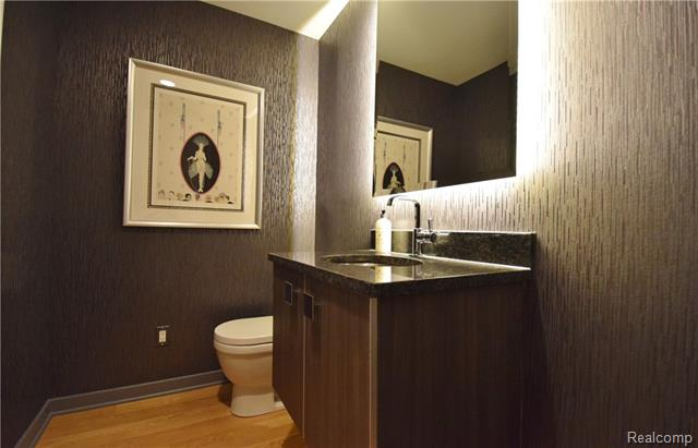 - Guest powder room