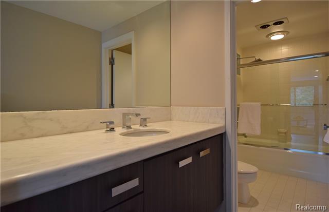 - Upper level full bath