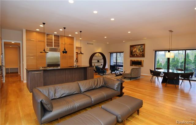 - View of kitchen, family room, living room & dining room